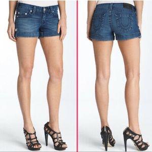 True Religion Jess Stretch Bonanza Denim Shorts